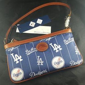 NWT Dooney & Bourke LA Dodgers Slim Wristlet Bag